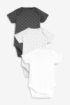 Mini Stars Short Sleeve Bodysuits Three Pack (0mths-2yrs)