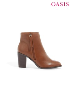 Oasis Tan Millie High Ankle Boot