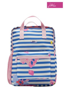 Joules Blue Easton Girls Printed Backpack