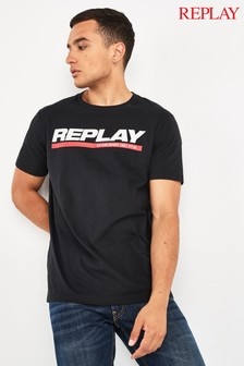 Replay® Black Bold Logo T-Shirt