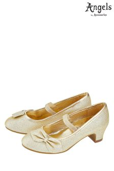 Angels By Accessorize Gold Bow Flamenco Shoe
