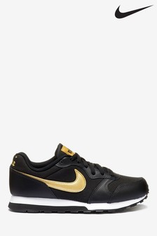 Nike Black/Gold MD Runner Youth Trainers