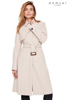 Damsel In A Dress Neutral Iona Belted Mac Coat