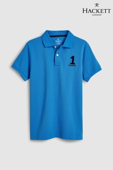Hackett Kids New Classic Blue Short Sleeve Polo