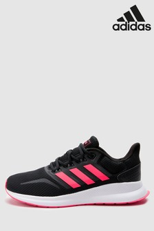 adidas Run Black/Pink Falcon Trainers