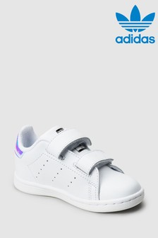 adidas Originals White Iridescent Stan Smith Infant