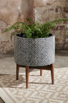 Geometric Plant Pot On Stand