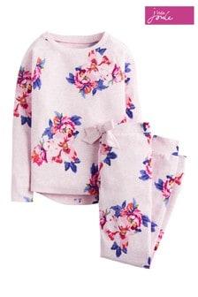 Joules Granny Kleid mit floralem Muster im Set, rosa meliert