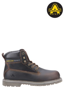 Amblers Safety Brown FS164 Goodyear Welted Lace-Up Industrial Safety Boots