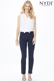 NYDJ Dark Blue Sheri Slim Leg Stretch Jersey Jean
