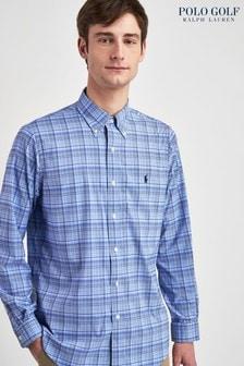 Camisa de lujo de cuadros de sarga de Polo Golf by Ralph Lauren