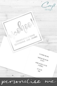 Personalised Woohoo Congratulations Single Card by Croft Designs