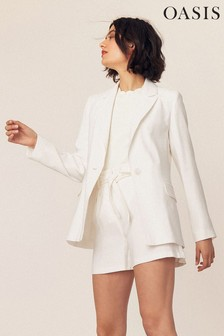 Oasis White Suit Jacket