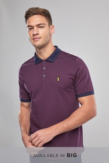 Textured Badge Polo