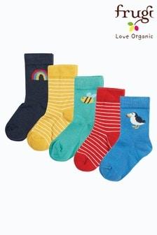 Frugi Organic Cotton Rainbow Socks 5 Pack
