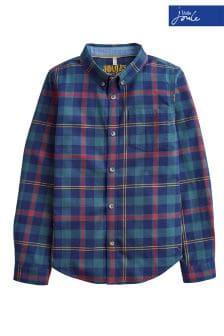 Joules Lachlan Hemd mit Schottenmuster, marineblau