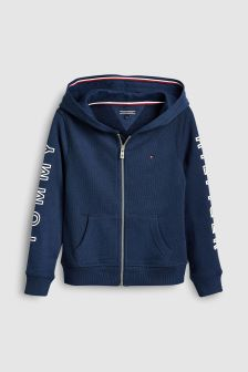 Tommy Hilfiger Girl Blue Essential Zip Hoody