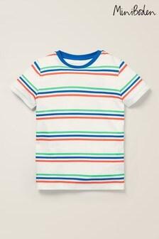Mini Boden White Supersoft Short Sleeve T-Shirt