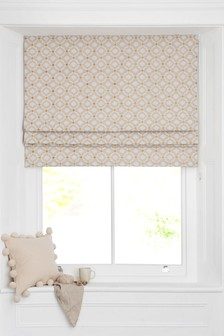 Country Geo Jacquard Roman Blind