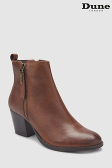 Dune London Zip Material Heel Ankle Boot