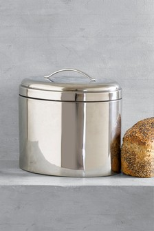 Oval Stainless Steel Bread Bin
