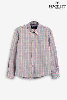 Hackett Pink Multicoloured Check Shirt