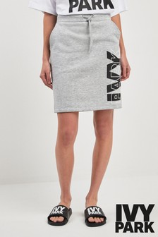 Ivy Park Grey Logo Skirt