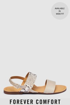 Forever Comfort Two Band Slingback Sandals