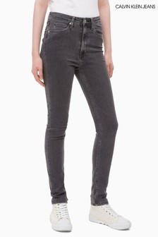 Calvin Klein Jeans Washed Grey High Rise Skinny Jean