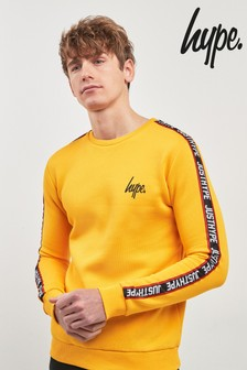 Hype. Yellow Tape Crew Sweat Top