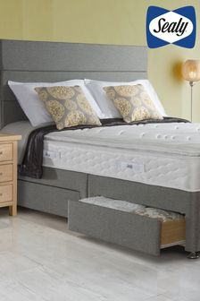 Comfort Pillow Top Mattress, Divan And Headboard By Sealy