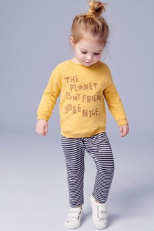 Planet Print Sweater And Joggers Set (3mths-7yrs)