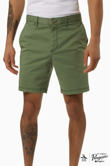 Original Penguin Green 8 Washed Stretch Pop Short