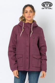 Animal Dusky Purple Borg-Lined Shortay Parka