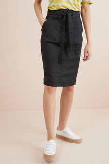 Utility Midi Denim Skirt