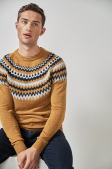 Fairisle Pattern Crew Neck Jumper
