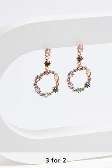 Jewel Circle Earrings