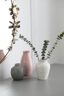 Komplet 3 ceramicznych wazonów