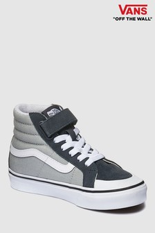 1214c2c18e0 Vans Black Grey SK8-Hi Youth Trainer