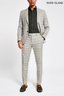 River Island Summer Check Suit Trouser