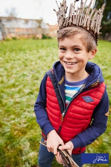 Joules Red Crofton Boys Gilet