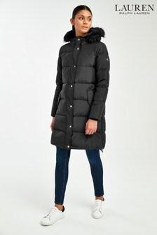 Lauren Ralph Lauren® Black Tonal Padded Down Coat