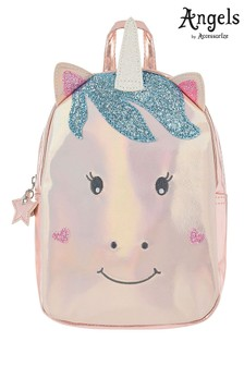Angels By Accessorize Pink Unicorn Character Backpack