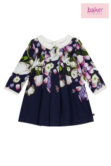 baker by Ted Baker Baby Floral Border Print Jersey Dress