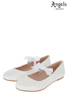 Angels By Accessorize Ivory Bow Ballerina