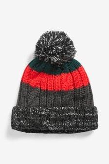 Colourblock Bobble Hat