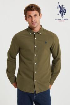 U.S. Polo Assn. Green Oxford Shirt
