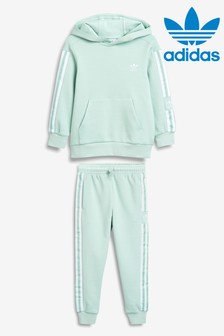 adidas Originals Little Kids Mint Hoody And Joggers Set
