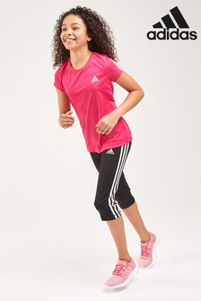 adidas Performance 3 Stripe 3/4 Leggings