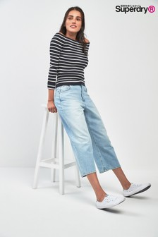 Superdry Light Wash Wide Leg Jean